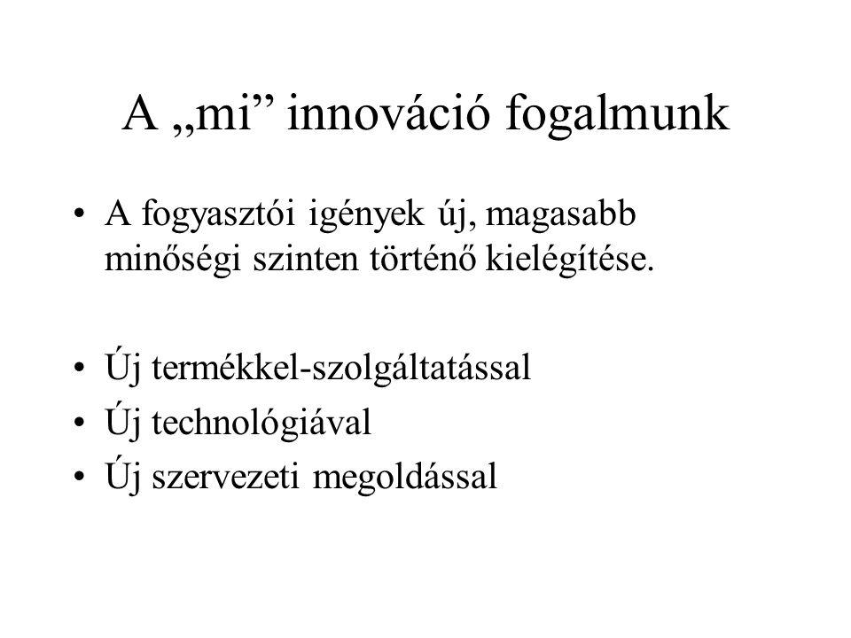 """A """"mi innováció fogalmunk"""