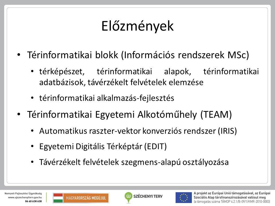 Előzmények Térinformatikai blokk (Információs rendszerek MSc)