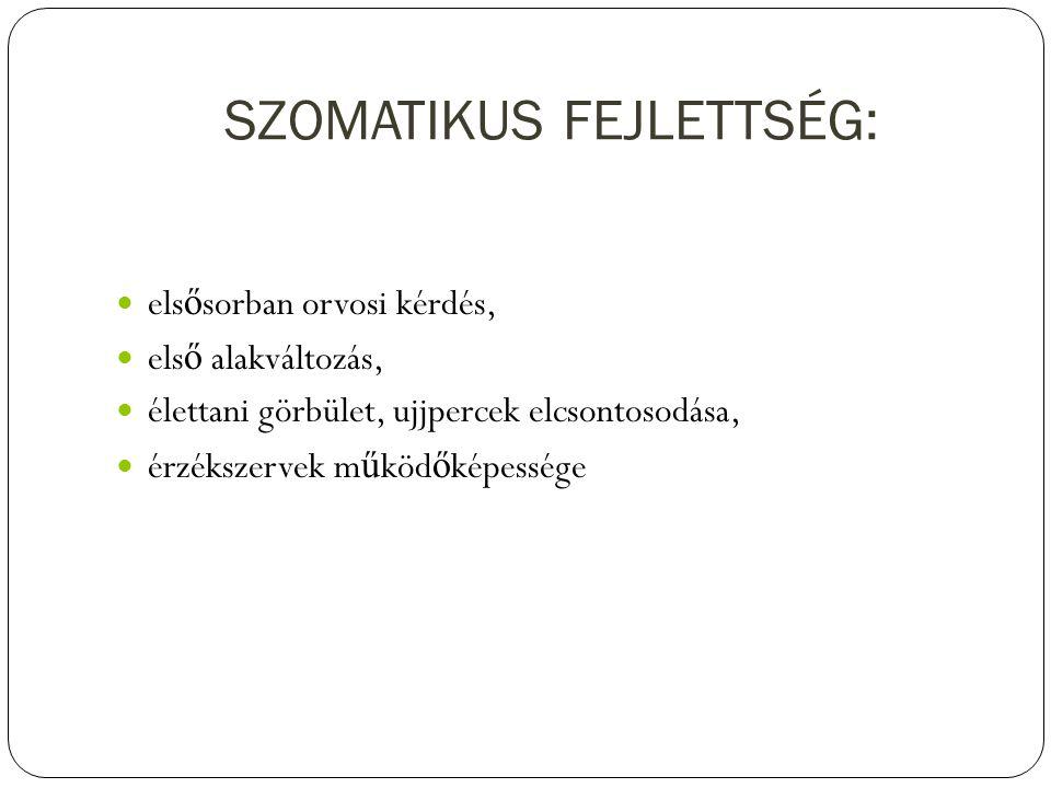 SZOMATIKUS FEJLETTSÉG: