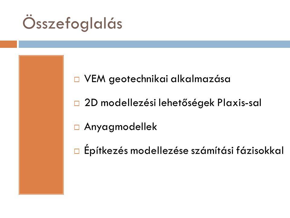 Összefoglalás VEM geotechnikai alkalmazása
