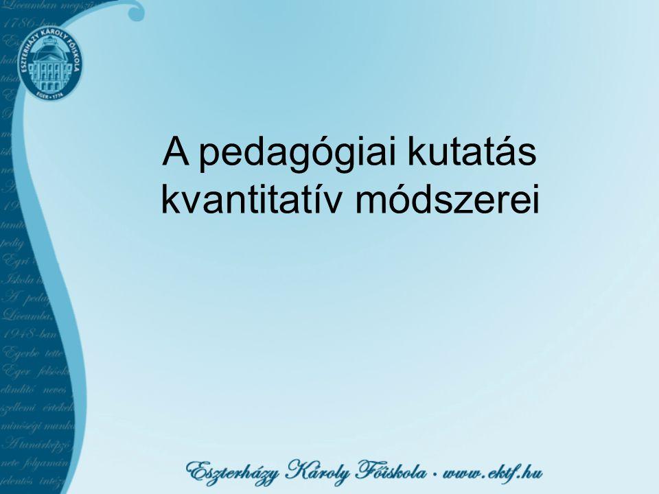A pedagógiai kutatás kvantitatív módszerei