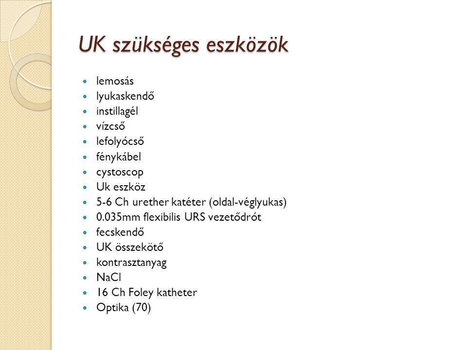 UK szükséges eszközök lemosás lyukaskendő instillagél vízcső
