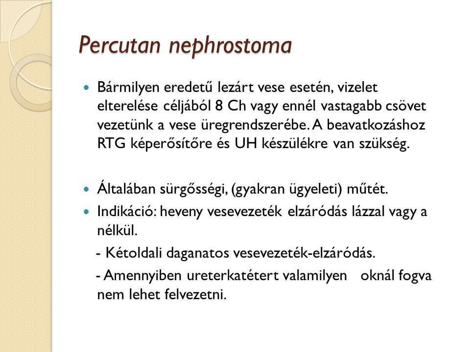 Percutan nephrostoma