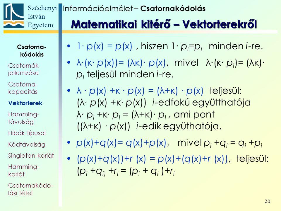 Matematikai kitérő – Vektorterekről