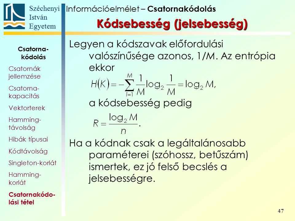 Kódsebesség (jelsebesség)