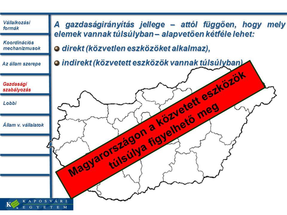 Magyarországon a közvetett eszközök túlsúlya figyelhető meg