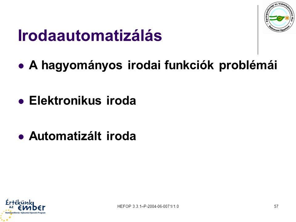 Irodaautomatizálás A hagyományos irodai funkciók problémái