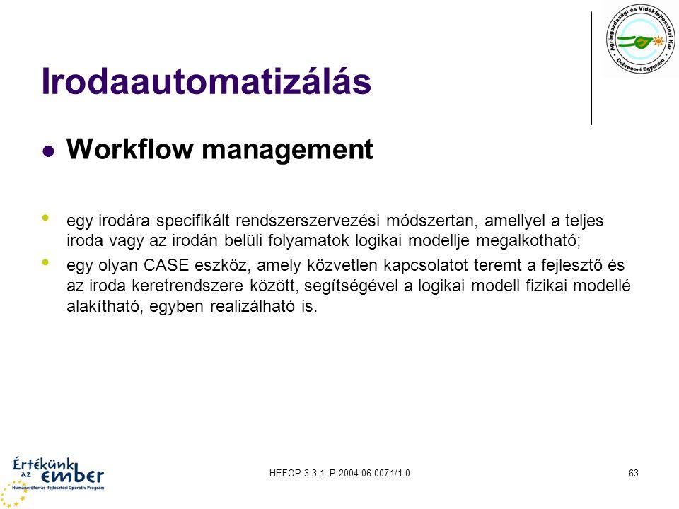 Irodaautomatizálás Workflow management