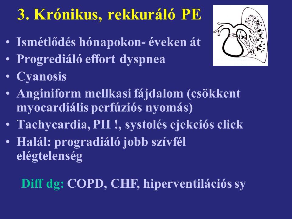 3. Krónikus, rekkuráló PE Ismétlődés hónapokon- éveken át