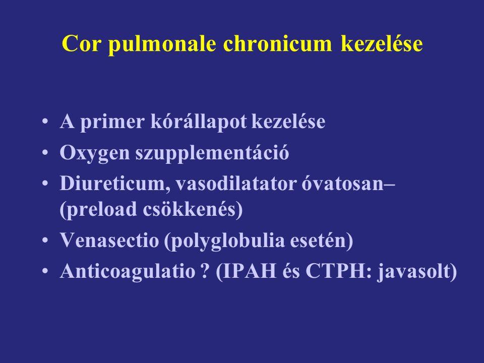 Cor pulmonale chronicum kezelése