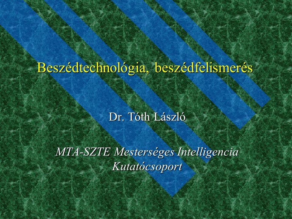 Beszédtechnológia, beszédfelismerés
