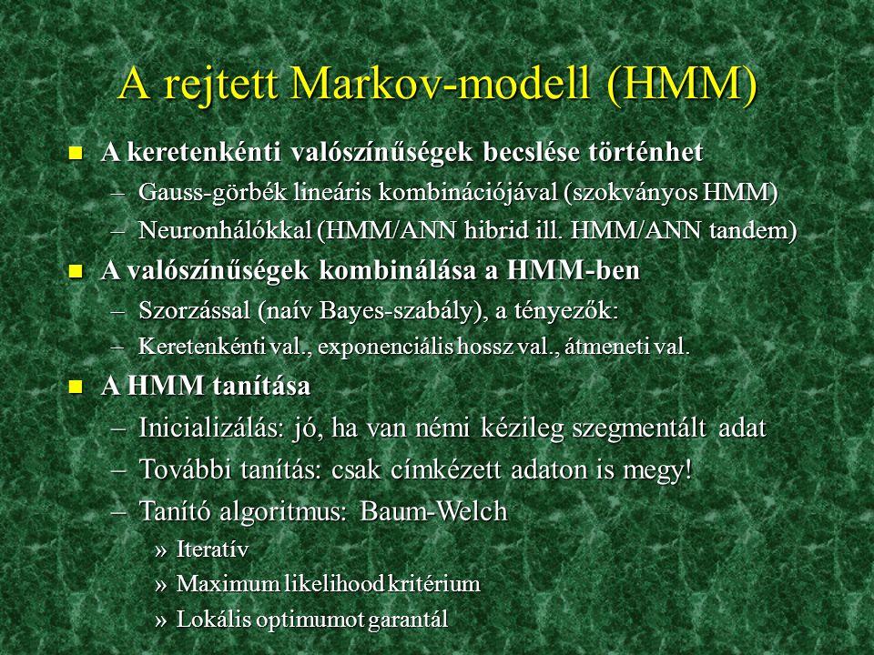 A rejtett Markov-modell (HMM)