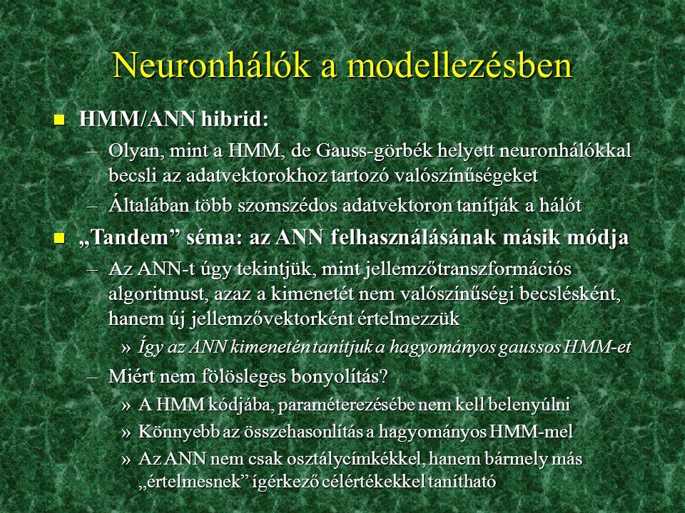 Neuronhálók a modellezésben