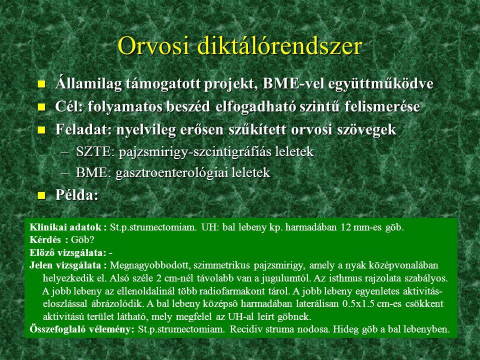 Orvosi diktálórendszer
