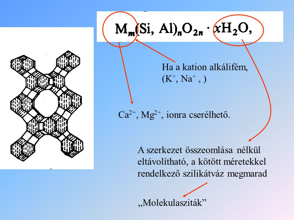 Ha a kation alkálifém, (K+, Na+ , )