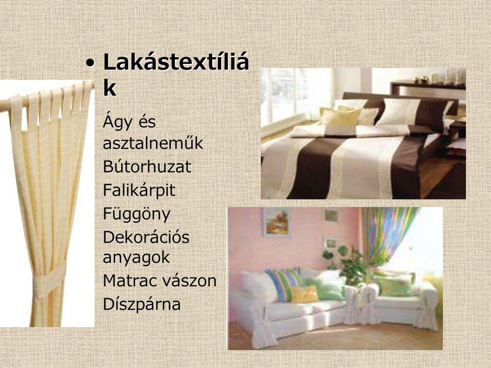 Lakástextíliák Ágy és asztalneműk Bútorhuzat Falikárpit Függöny