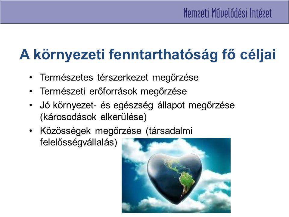 A környezeti fenntarthatóság fő céljai