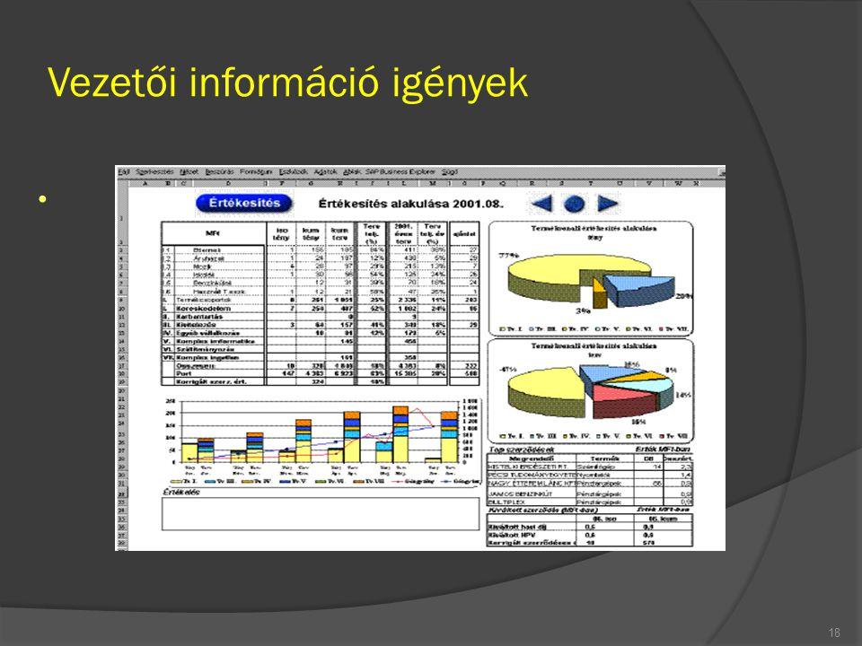 Vezetői információ igények