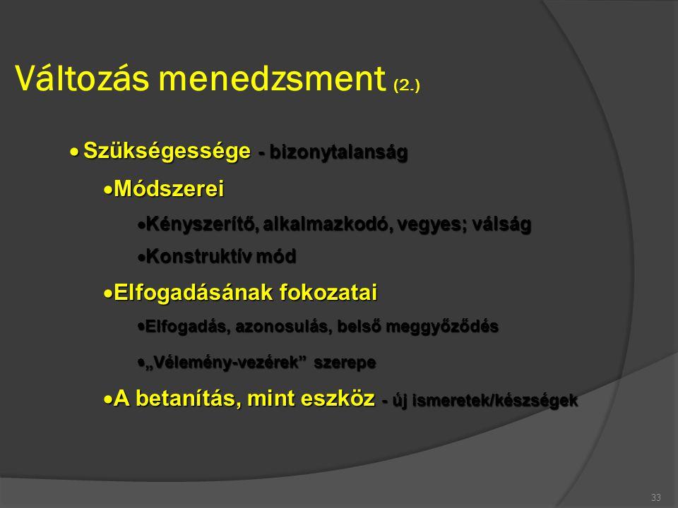 Változás menedzsment (2.)