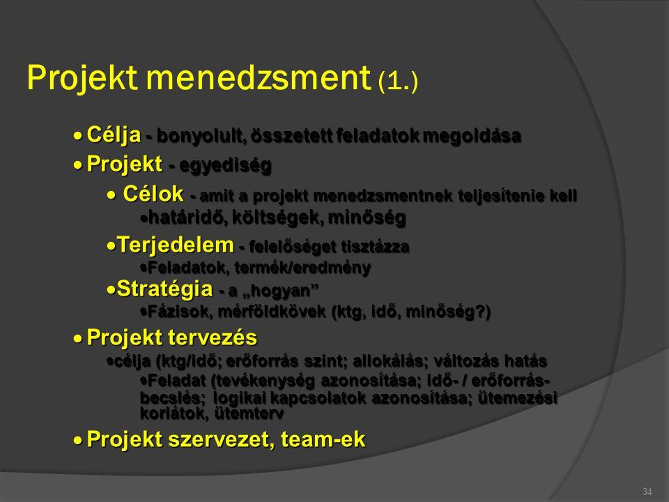 Projekt menedzsment (1.)