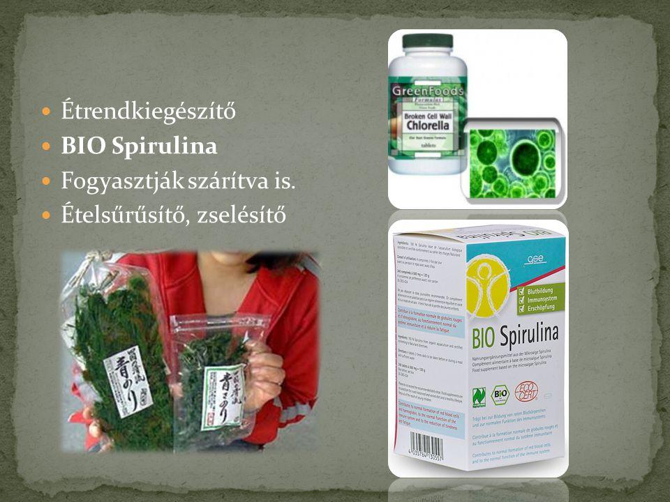 Étrendkiegészítő BIO Spirulina Fogyasztják szárítva is. Ételsűrűsítő, zselésítő