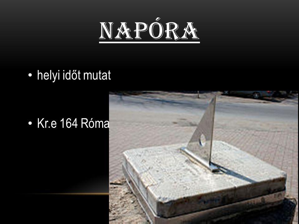Napóra helyi időt mutat Kr.e 164 Róma