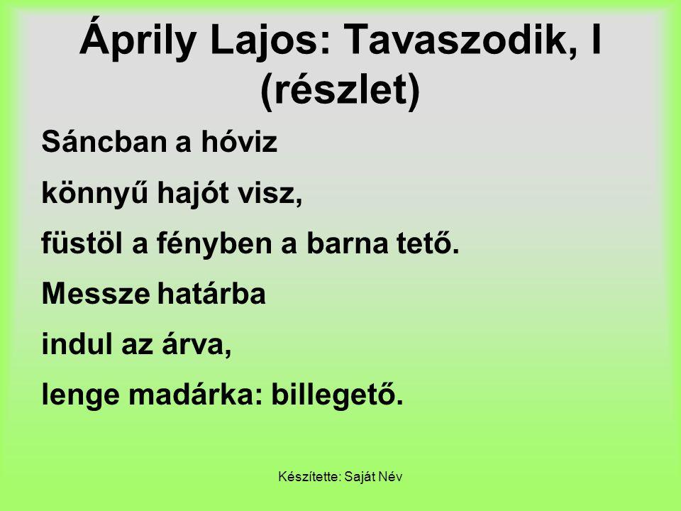 Áprily Lajos: Tavaszodik, I (részlet)