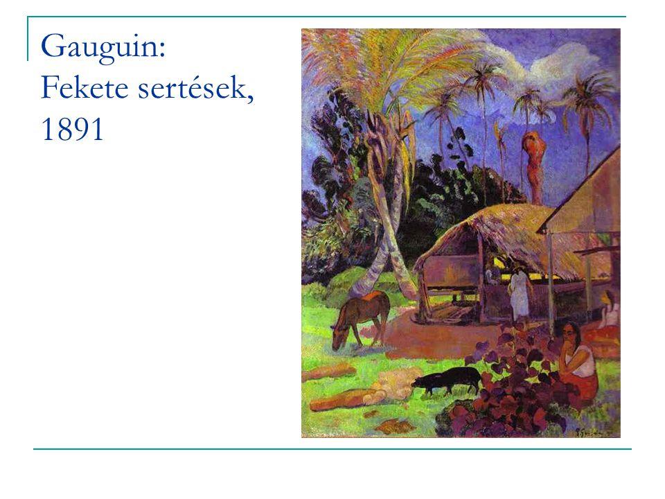 Gauguin: Fekete sertések, 1891
