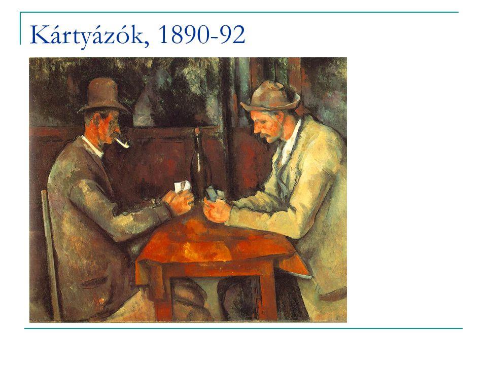 Kártyázók, 1890-92