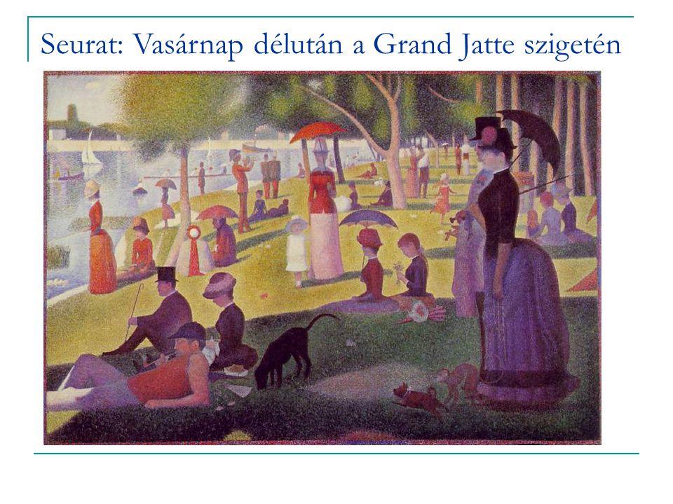 Seurat: Vasárnap délután a Grand Jatte szigetén