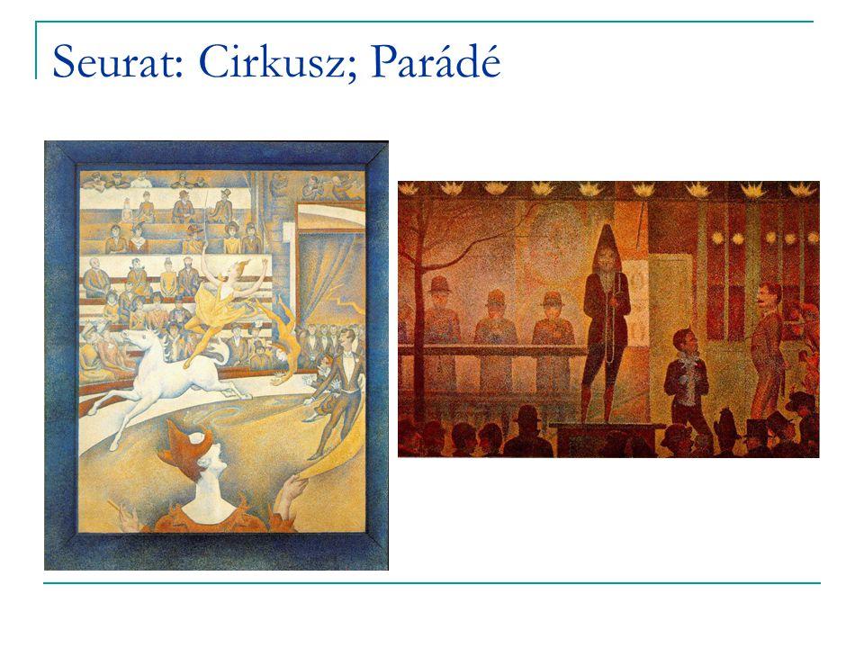 Seurat: Cirkusz; Parádé
