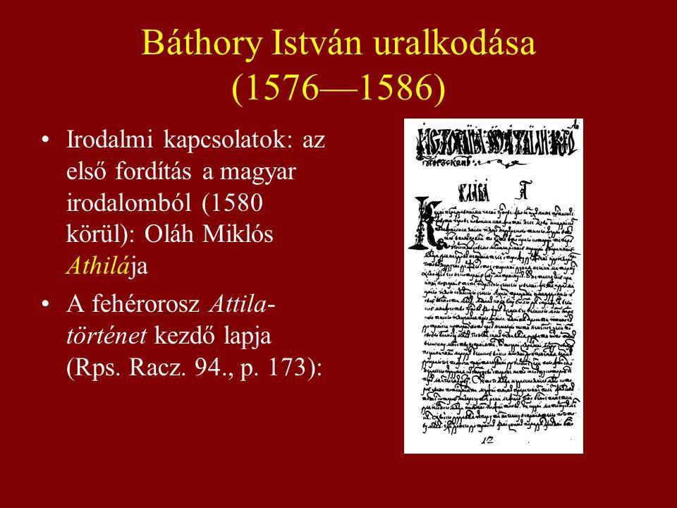 Báthory István uralkodása (1576—1586)