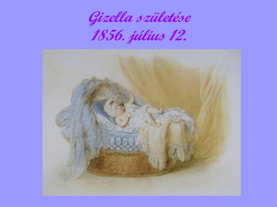 Gizella születése 1856. július 12.