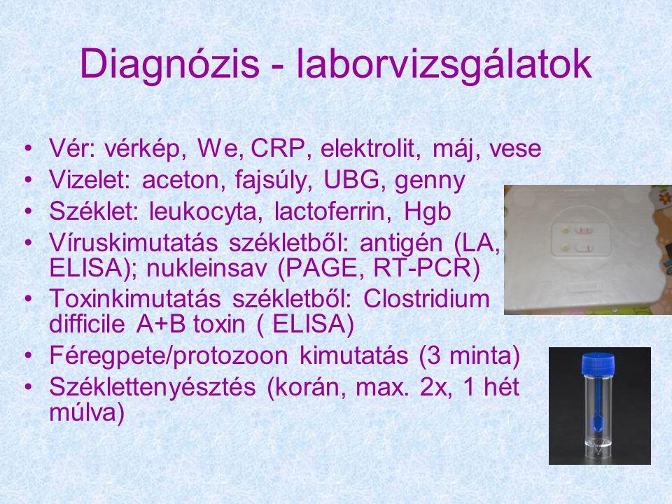 Diagnózis - laborvizsgálatok