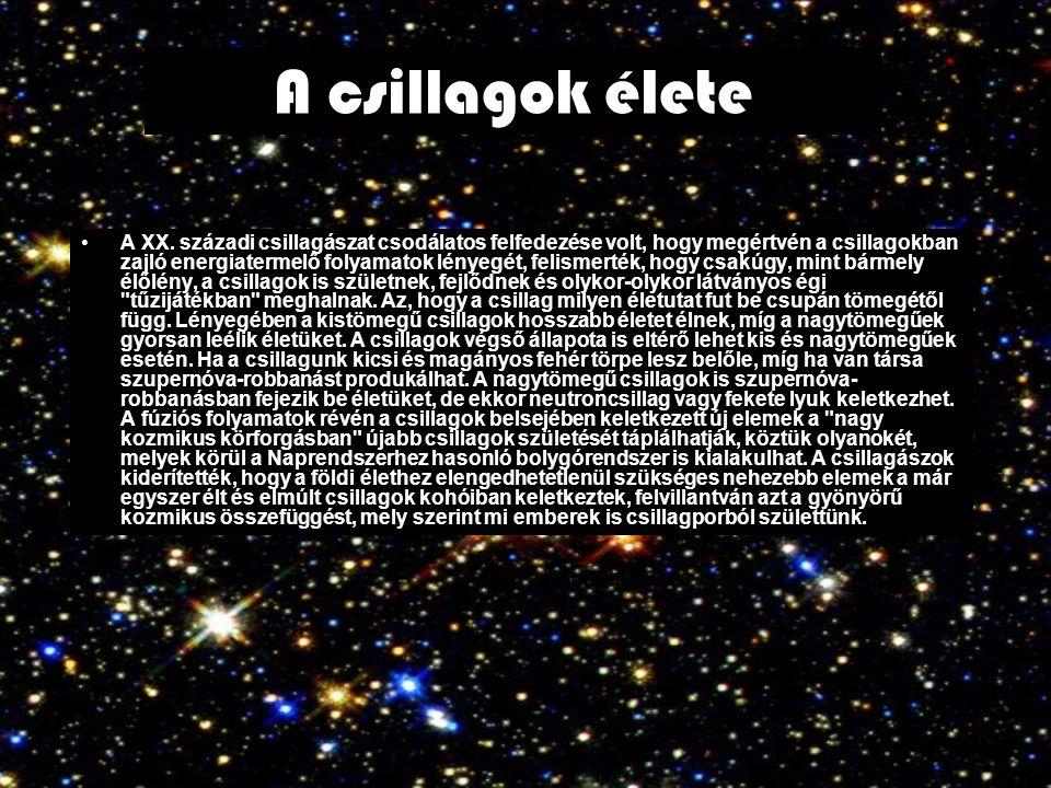 A csillagok élete