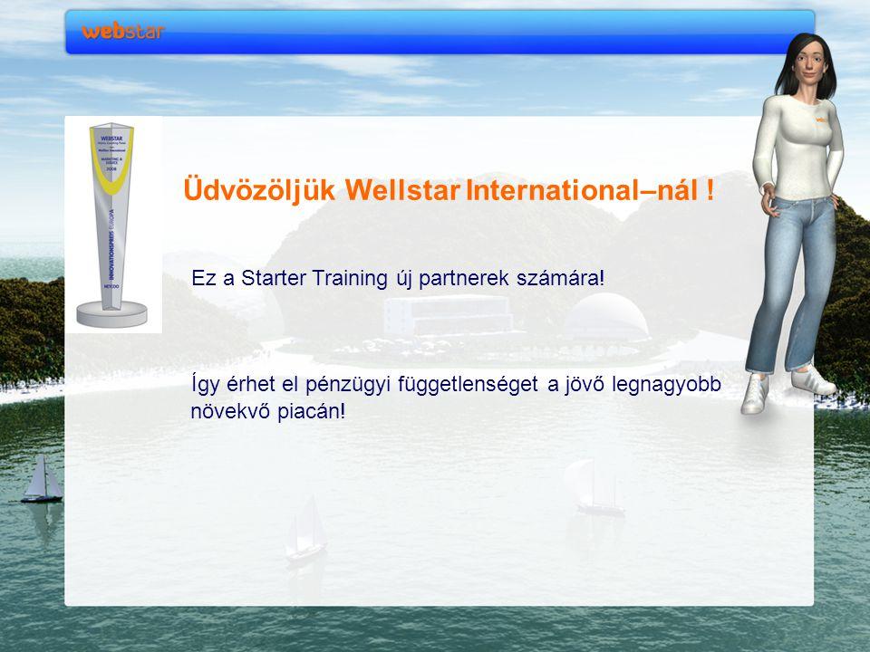 Üdvözöljük Wellstar International–nál !
