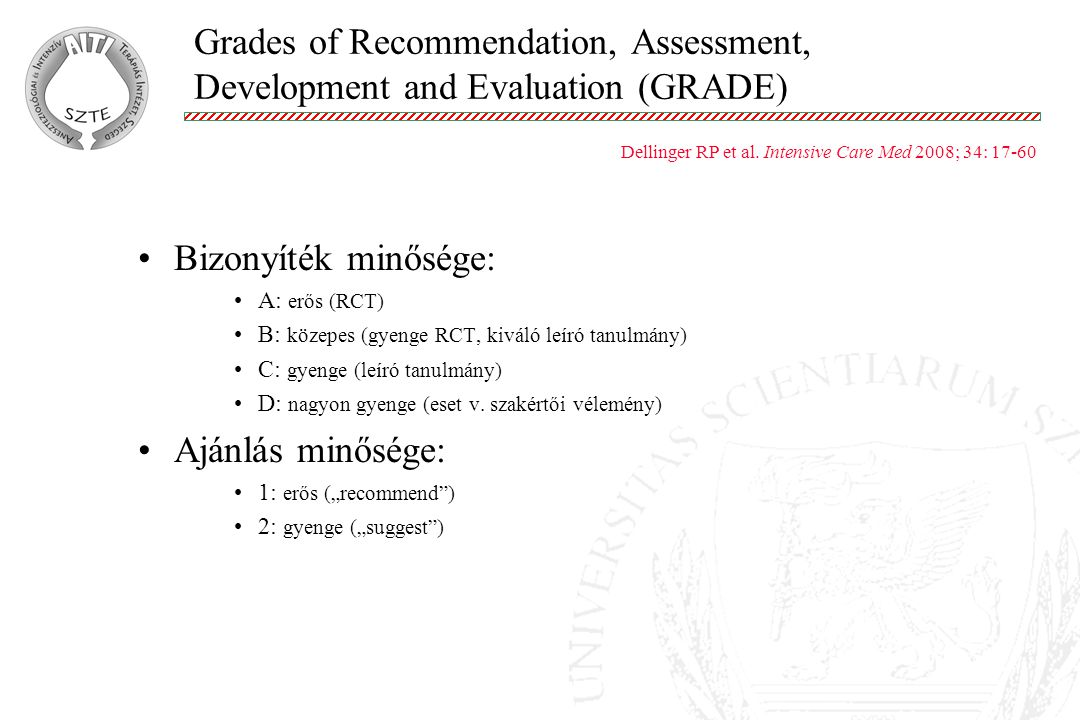Grades of Recommendation, Assessment, Development and Evaluation (GRADE)