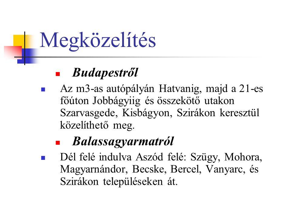 Megközelítés Budapestről Balassagyarmatról
