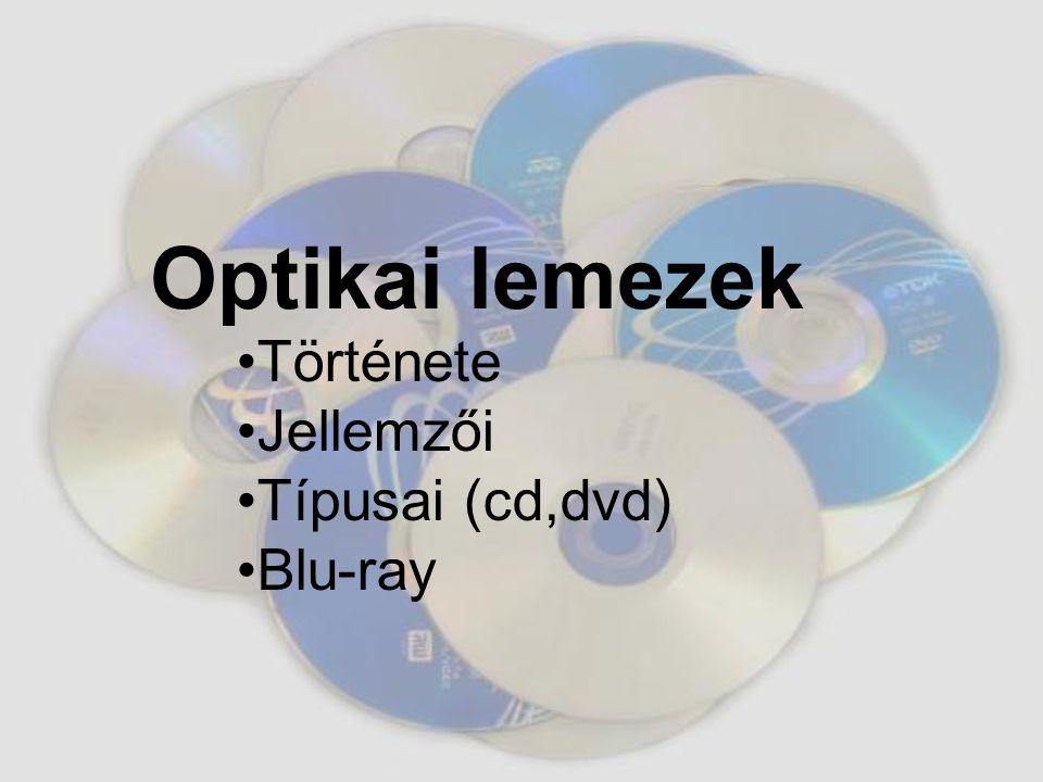 Története Jellemzői Típusai (cd,dvd) Blu-ray