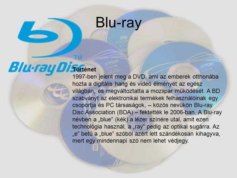 Blu-ray Történet.