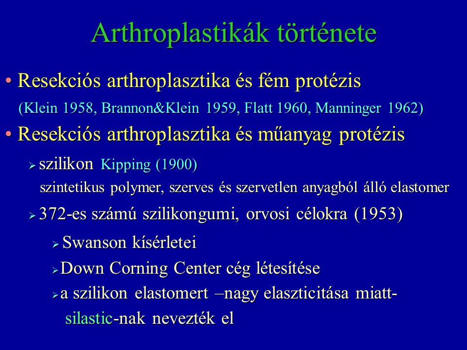 Arthroplastikák története