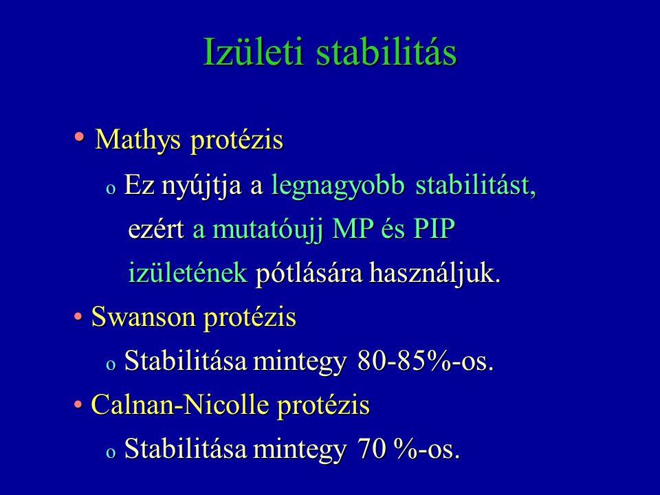 Izületi stabilitás Mathys protézis