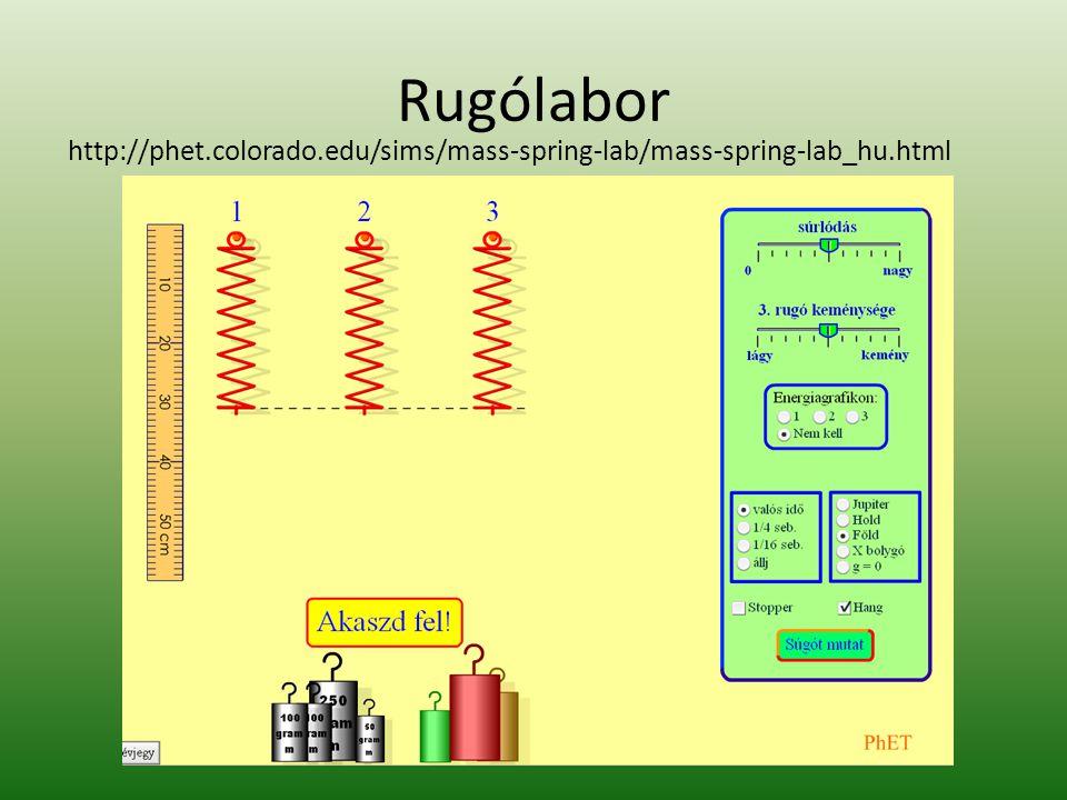 Rugólabor http://phet.colorado.edu/sims/mass-spring-lab/mass-spring-lab_hu.html.