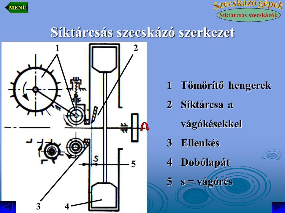 Síktárcsás szecskázó szerkezet