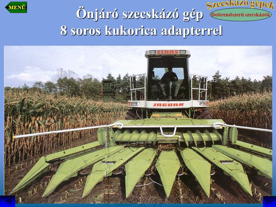 8 soros kukorica adapterrel Dobrendszerű szecskázók