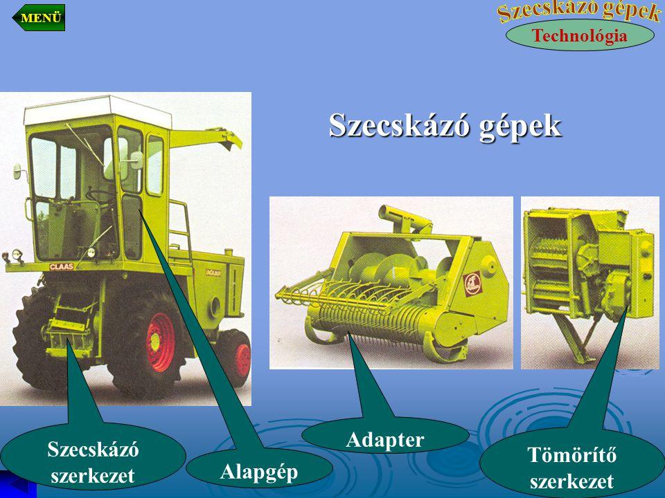 Szecskázó gépek Adapter Szecskázó szerkezet Tömörítő szerkezet Alapgép