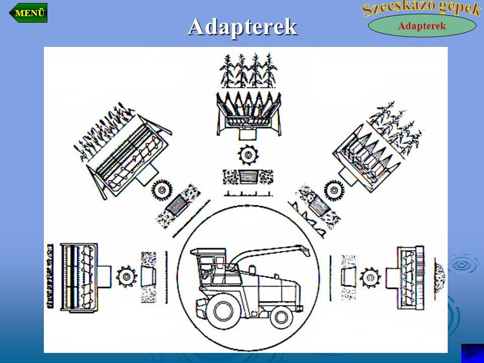 MENÜ Adapterek Szecskázó gépek Adapterek