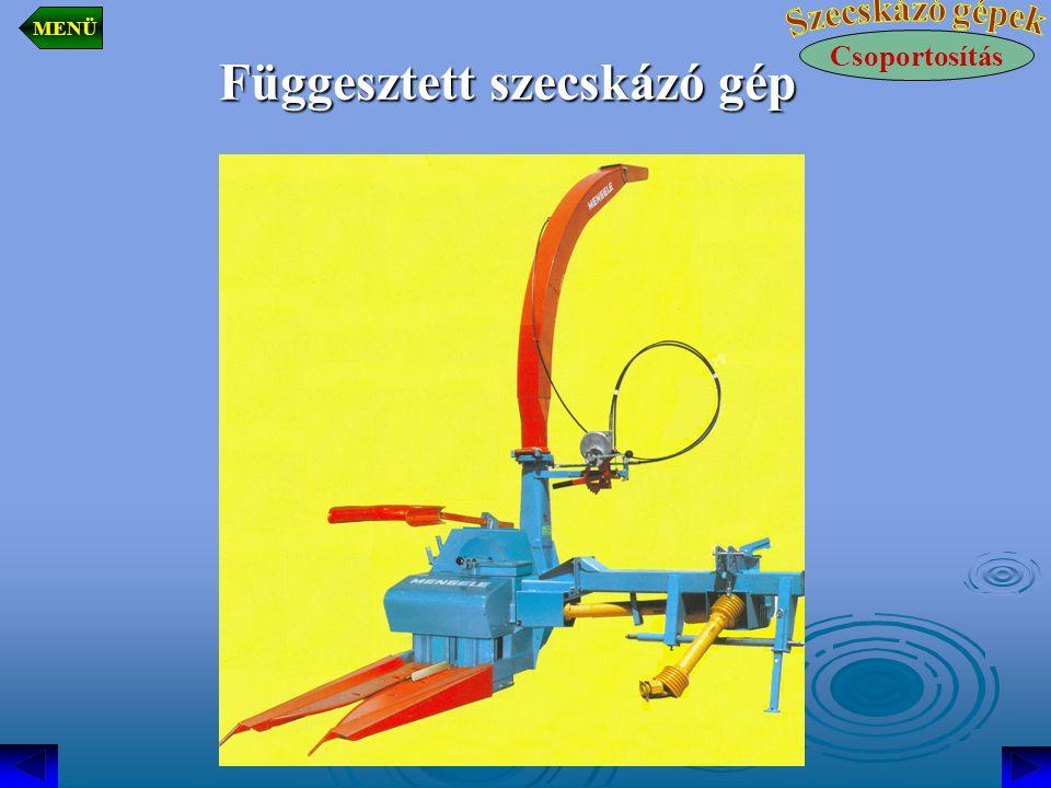 Függesztett szecskázó gép