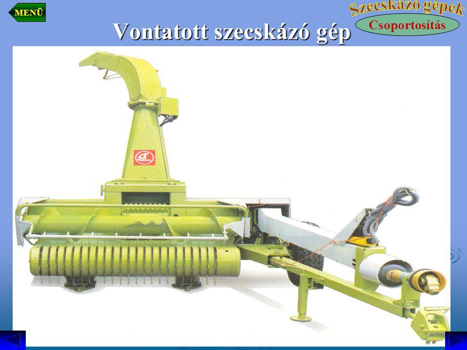 Vontatott szecskázó gép