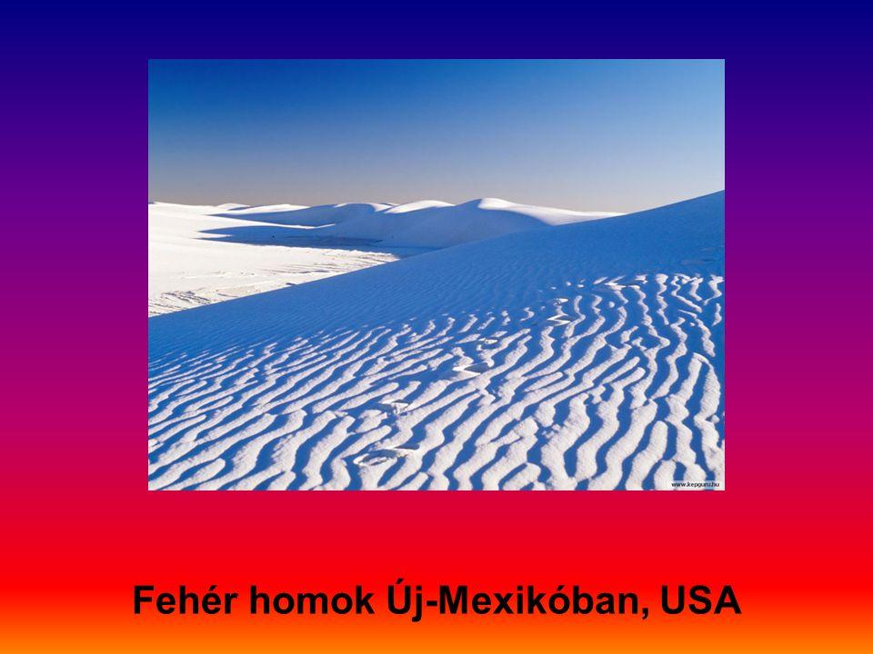 Fehér homok Új-Mexikóban, USA